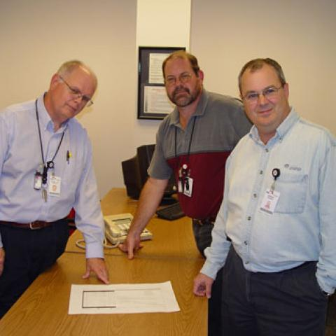(from left) Chuck Miller, Randy Glueck and Ed Deweese